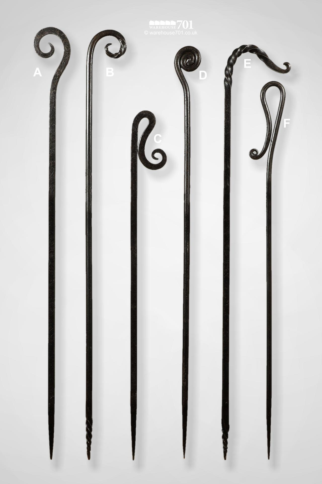 New Wrought Iron Blacksmith Made Decorative Fire Pokers #5
