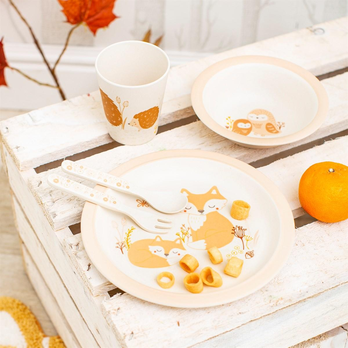 New Woodland Baby Bamboo Tableware Set for Teatime Fun