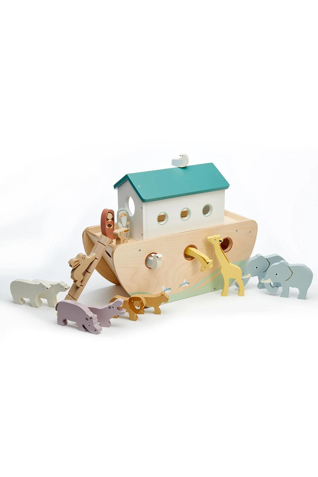 New Noah's Ark with 10 Pairs of Wooden Animals #6