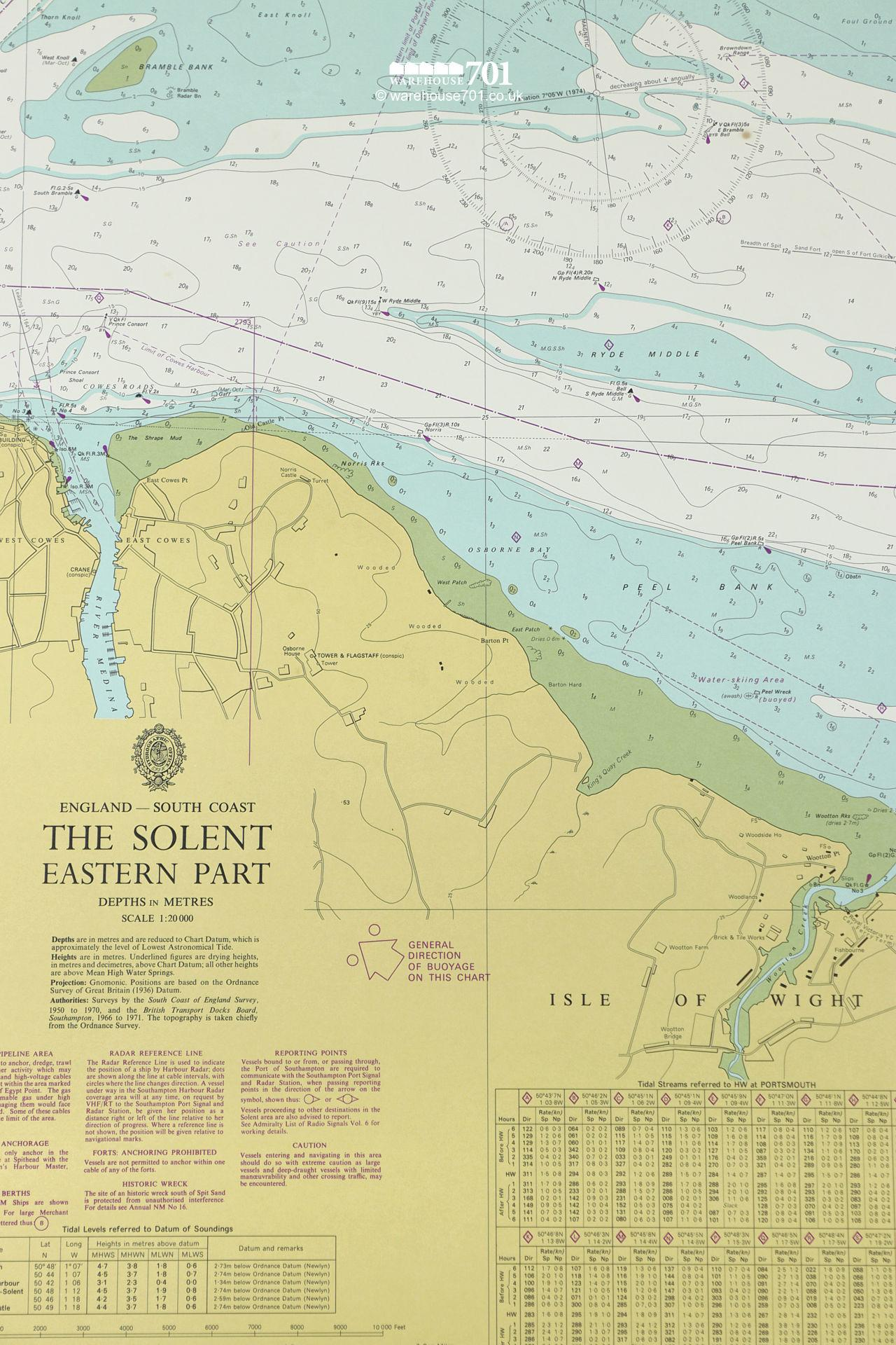 Extensive Collection of Original 1960s Nautical Charts From Around The World #10