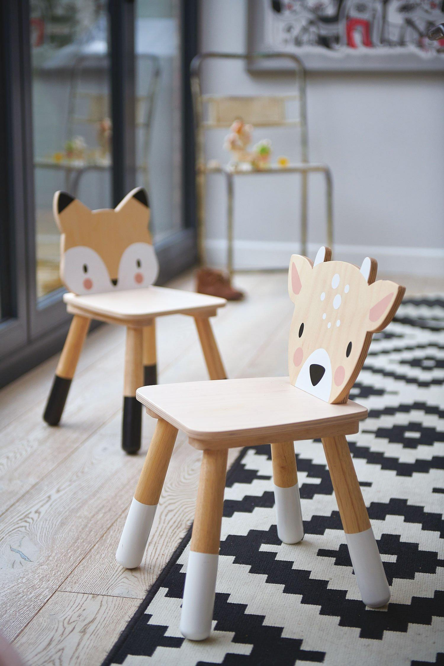 New Wooden Forest Fox Themed Children's Chair #1