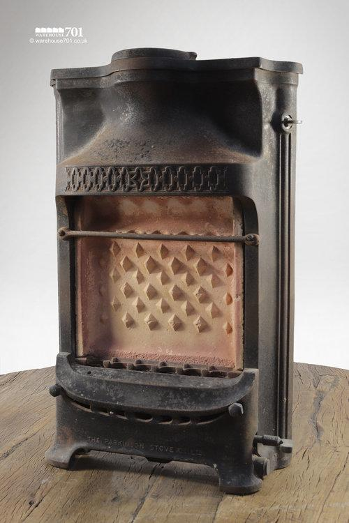 Salvaged 1930s Petite Cast Iron Gas Fire Surround #3