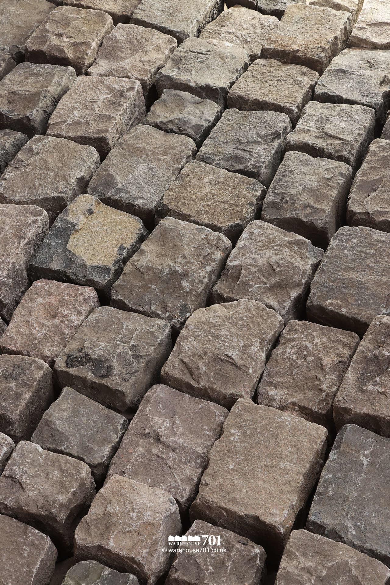 Salvaged Full Size Granite Squared Cobbles or Setts