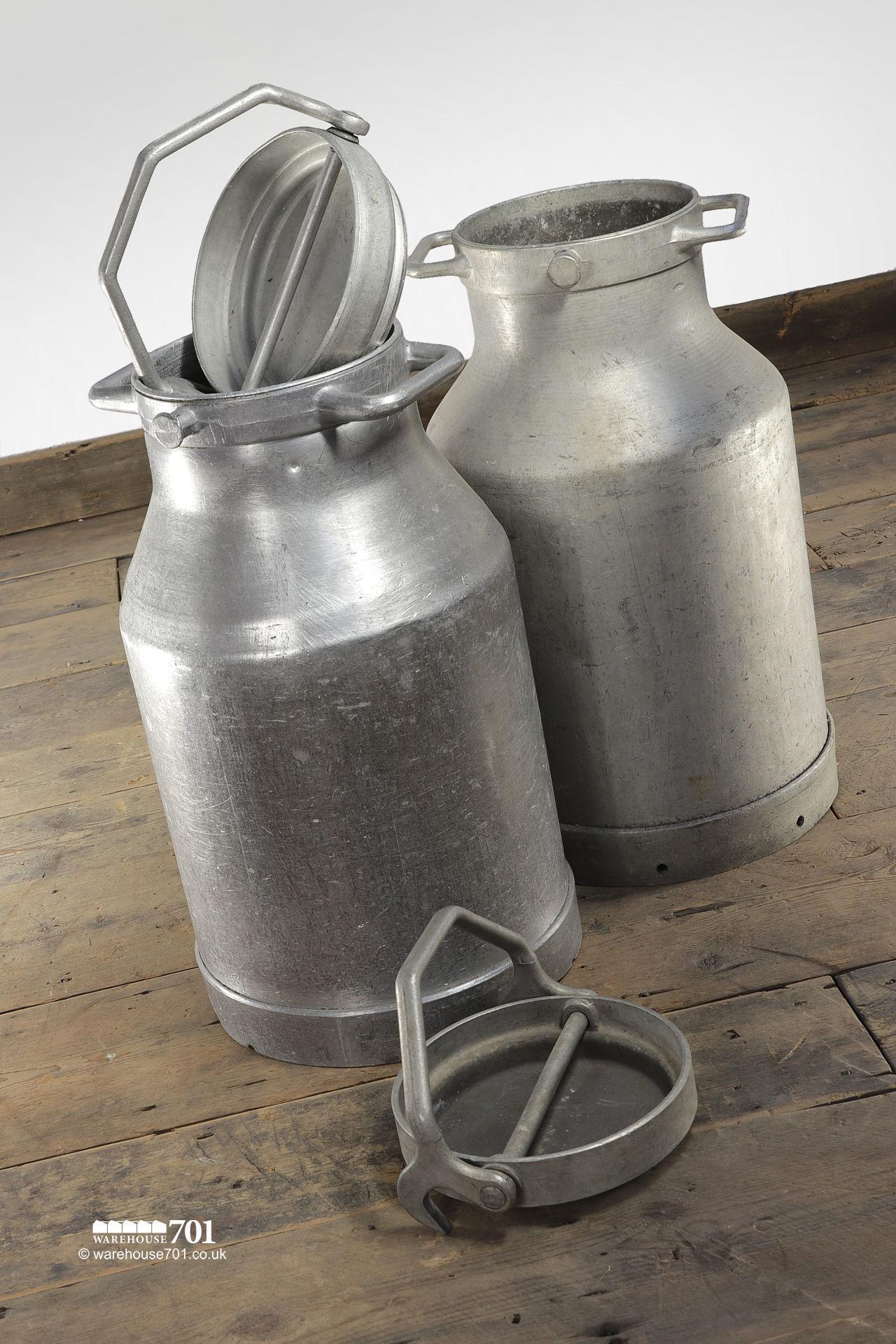 Salvaged Alloy Milk or Liquid Churns #2
