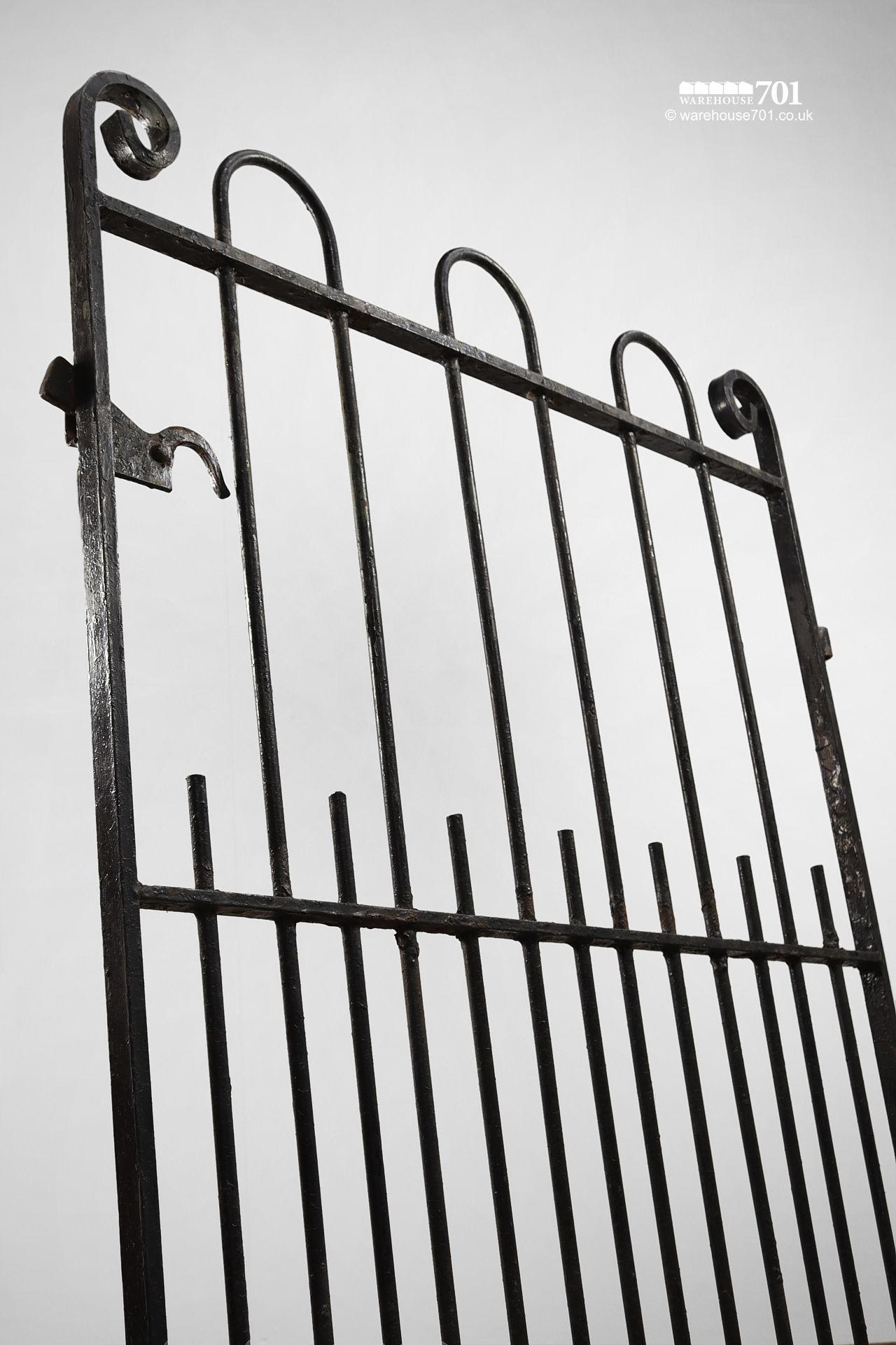 Reclaimed Hoop and Scroll Wrought Iron Pedestrian Gate #3