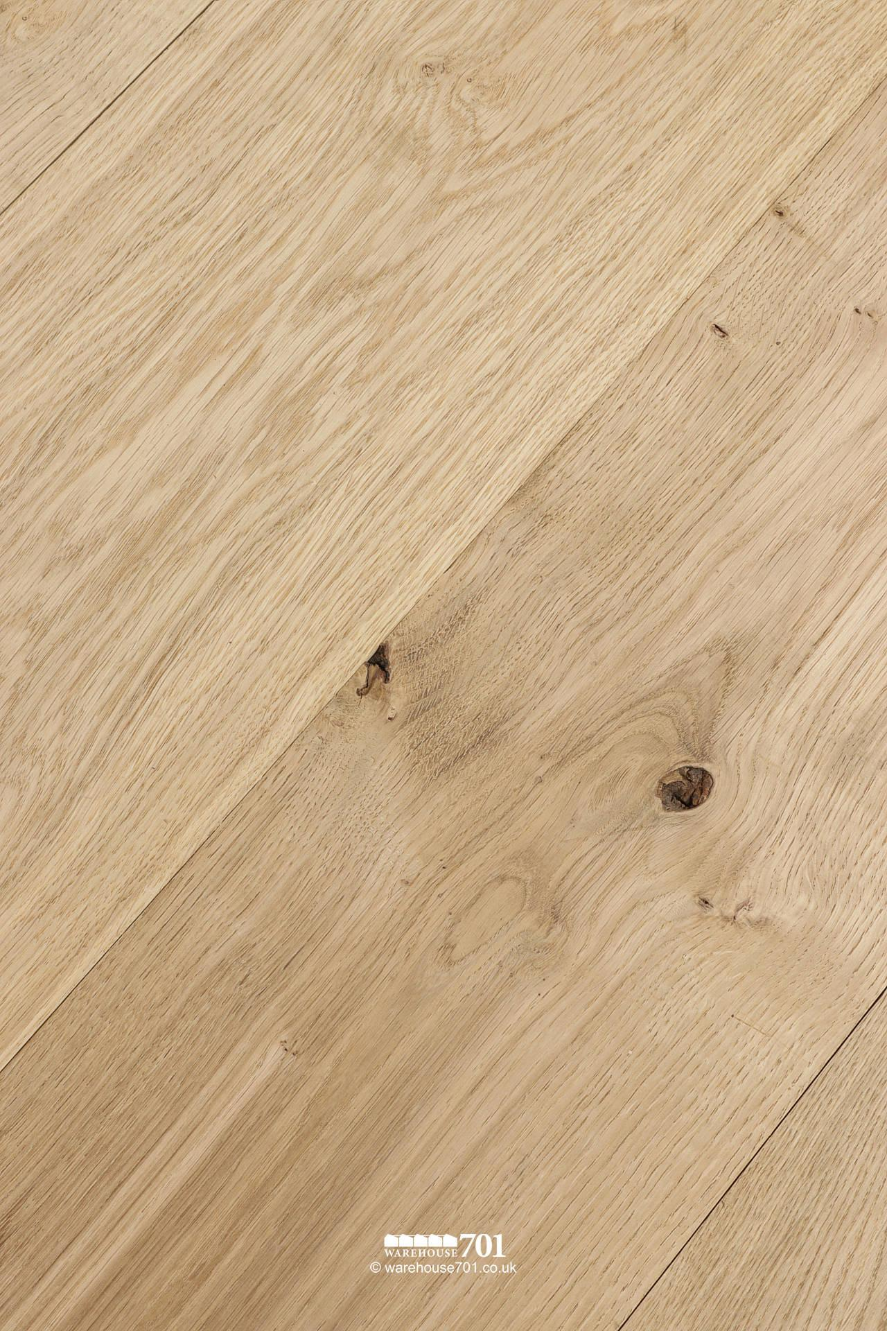 New Natural Oak Solid Wood Tongue and Groove Plank Flooring #1
