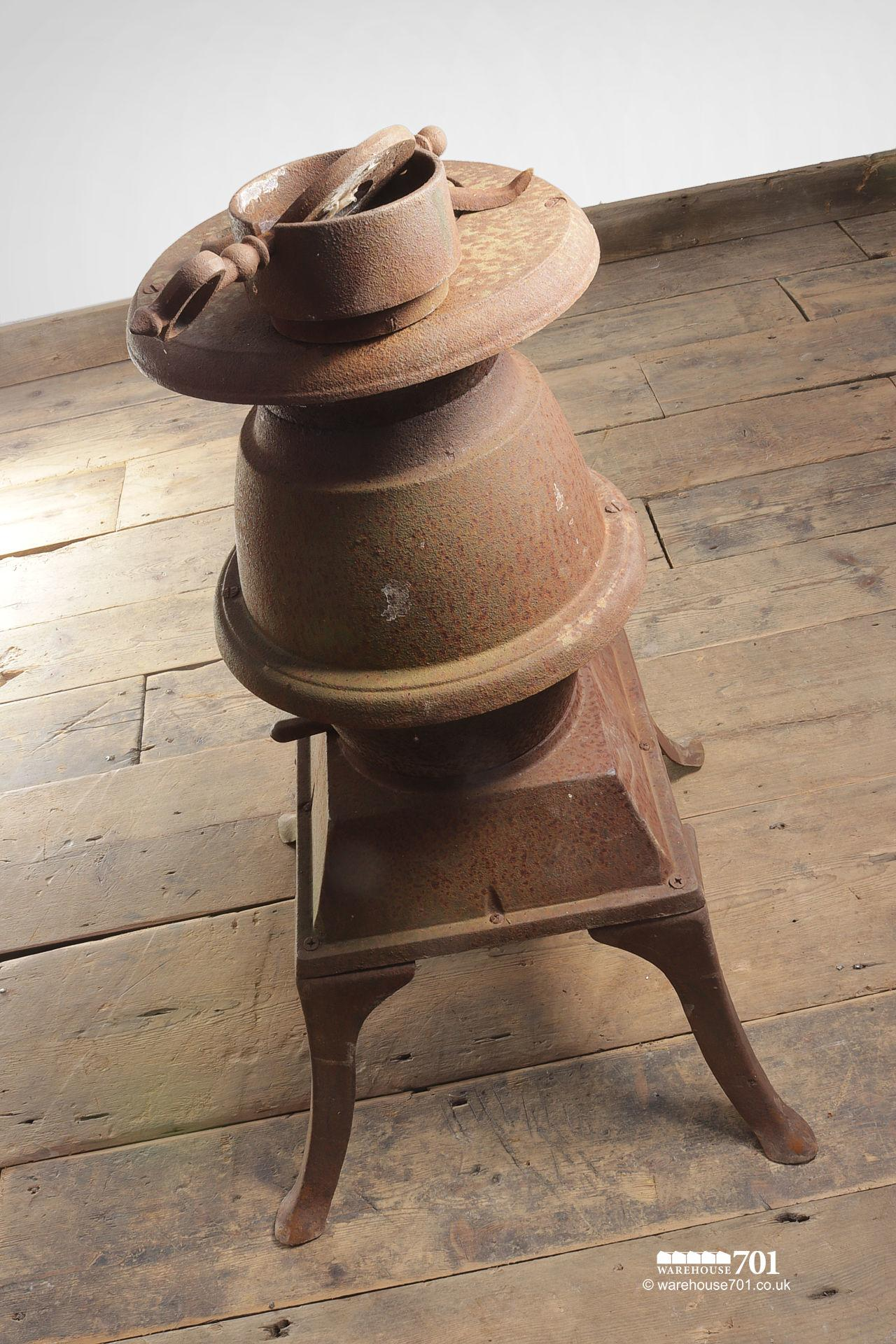 Old Cast Iron Pot Belly Stove with Flue #5