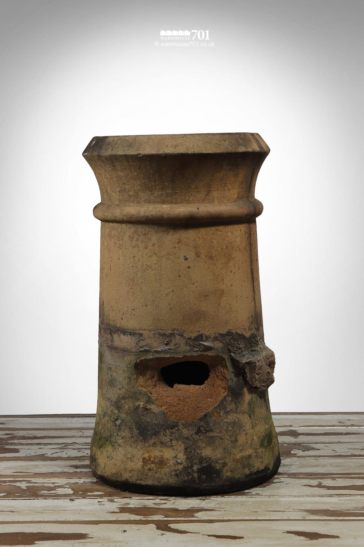 Old Buff Cannon Chimney Pot Planter (holed)