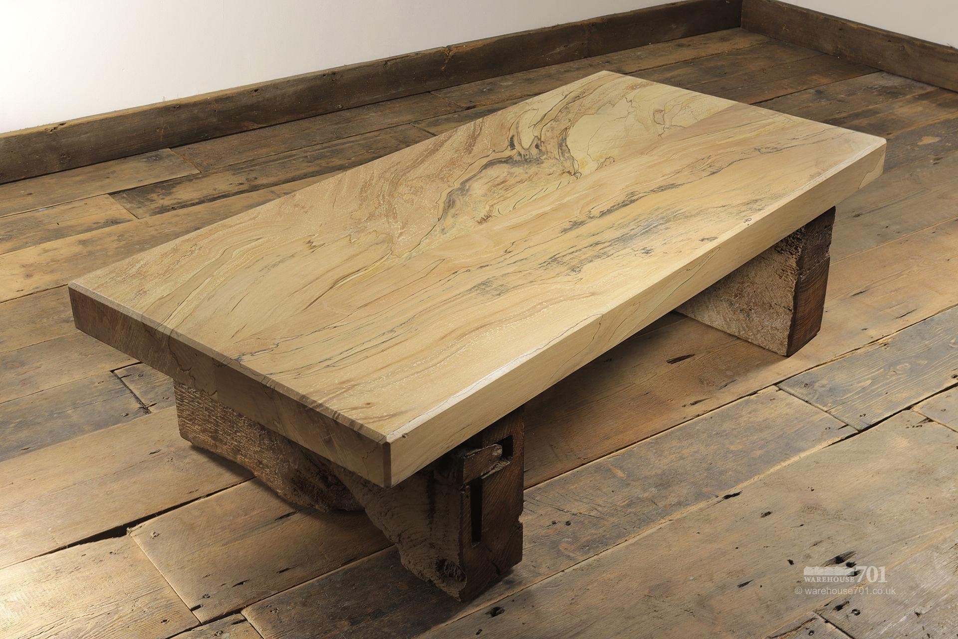 Hand-Made Spalted Beech Coffee Table #2