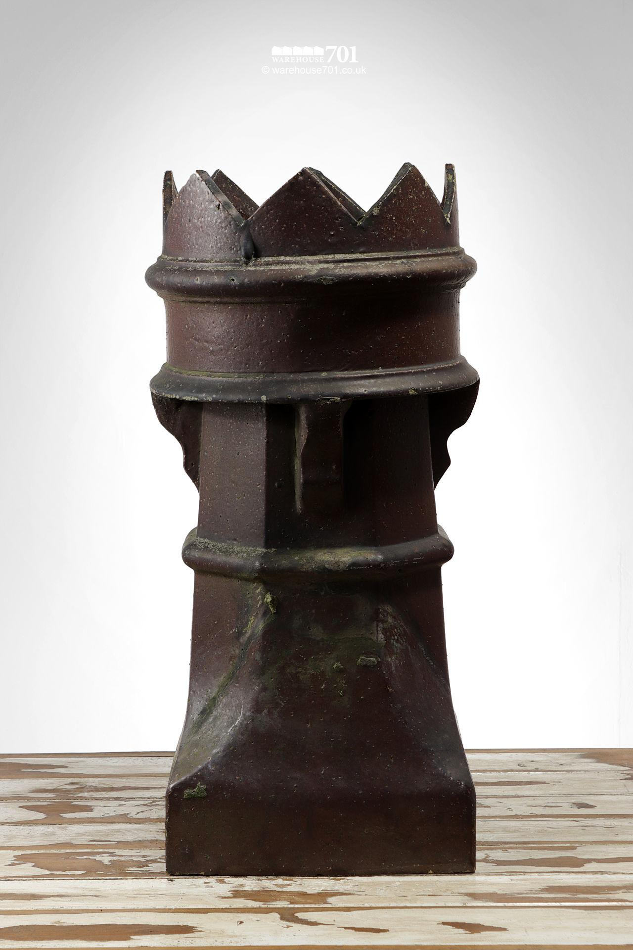 Pair of Old Salt Glazed Bishop Chimney Pots #3