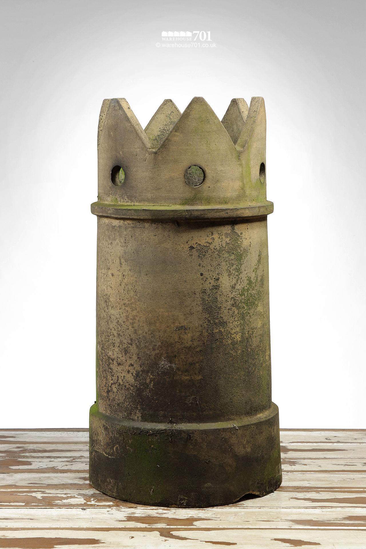 Reclaimed Buff Pierced Crown Chimney Pot