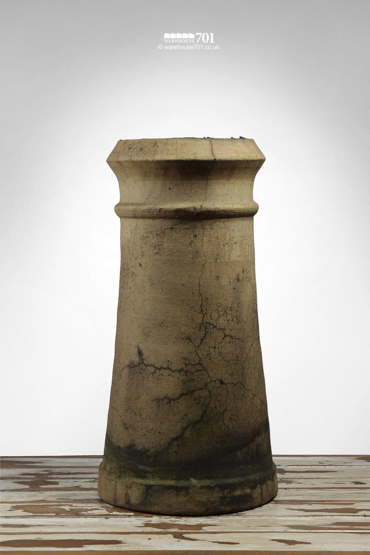 Salvaged Buff Colour Tapered Canon Chimney Pot