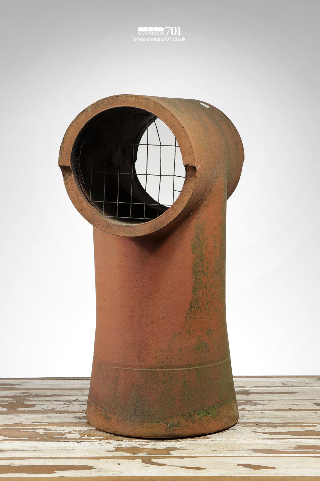 Salvaged Tee-Top Terracotta Chimney Pot #3