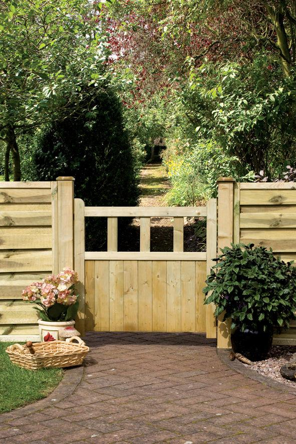 Solid Wood Infill Path Gate #2