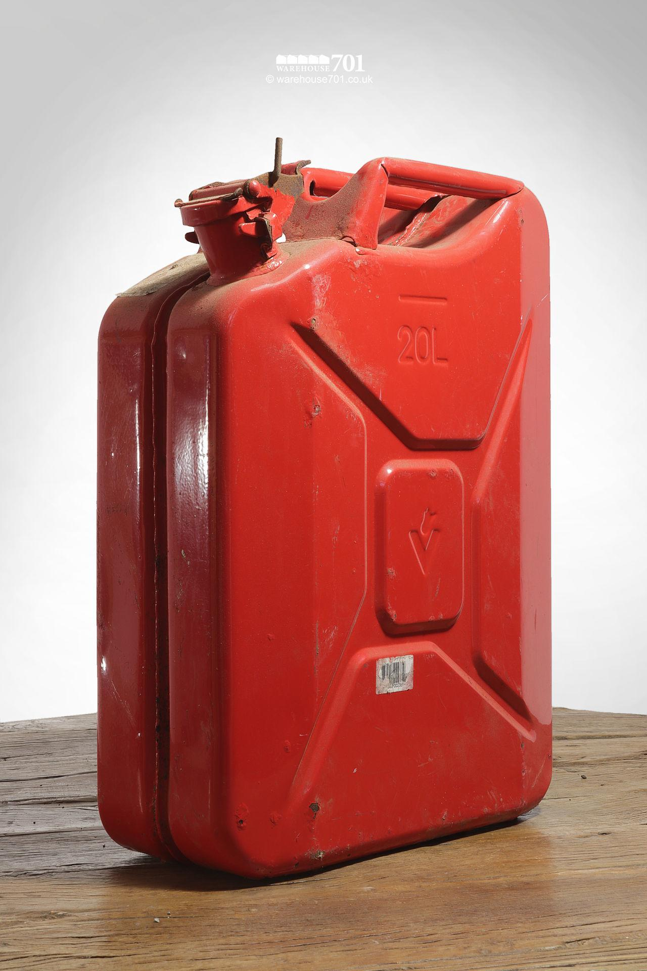 Assorted Salvaged Jerry Cans and Fuel and Oil Cans #2