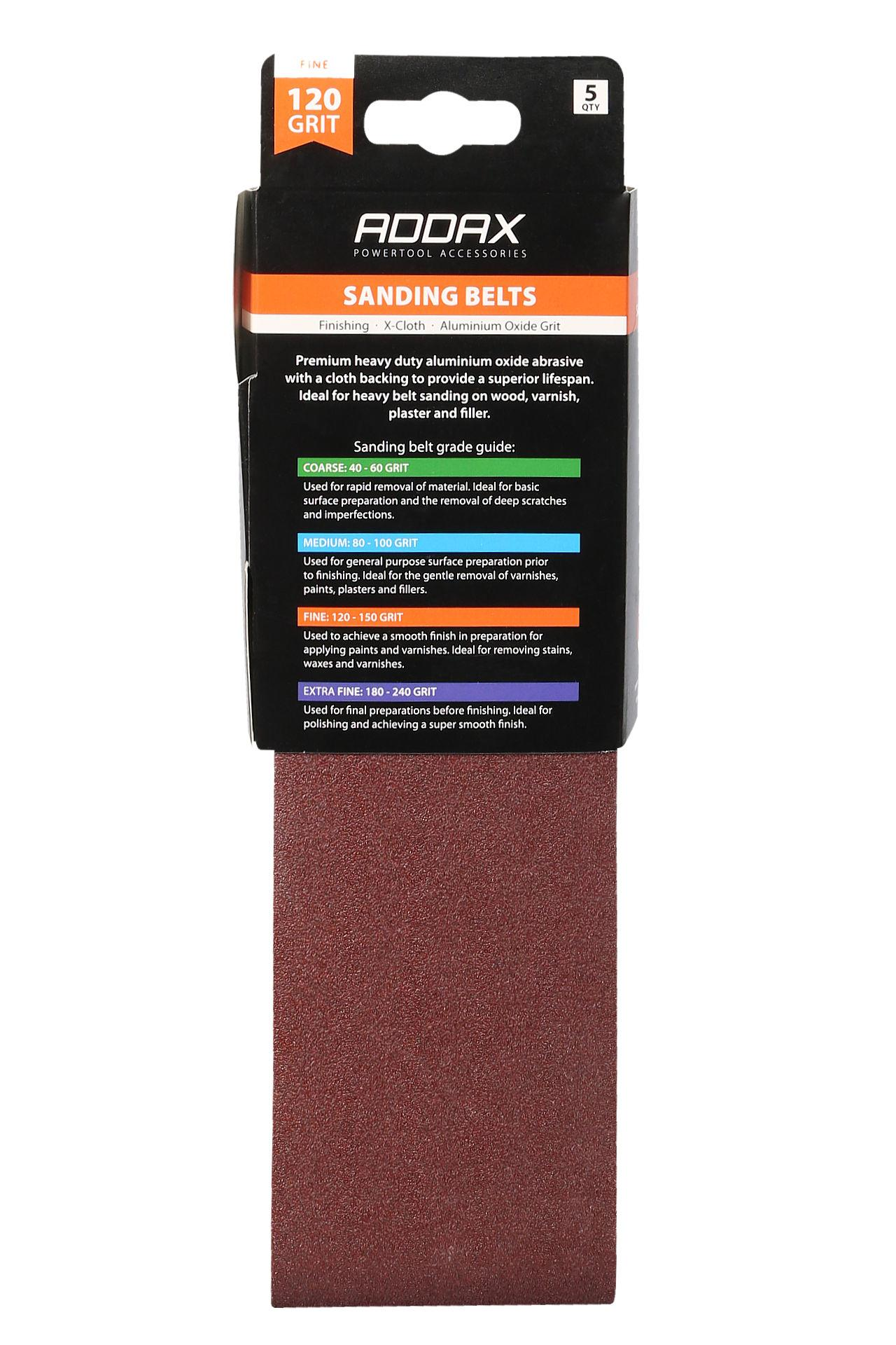 Addax Sanding Belts - Various Grit - Red #6
