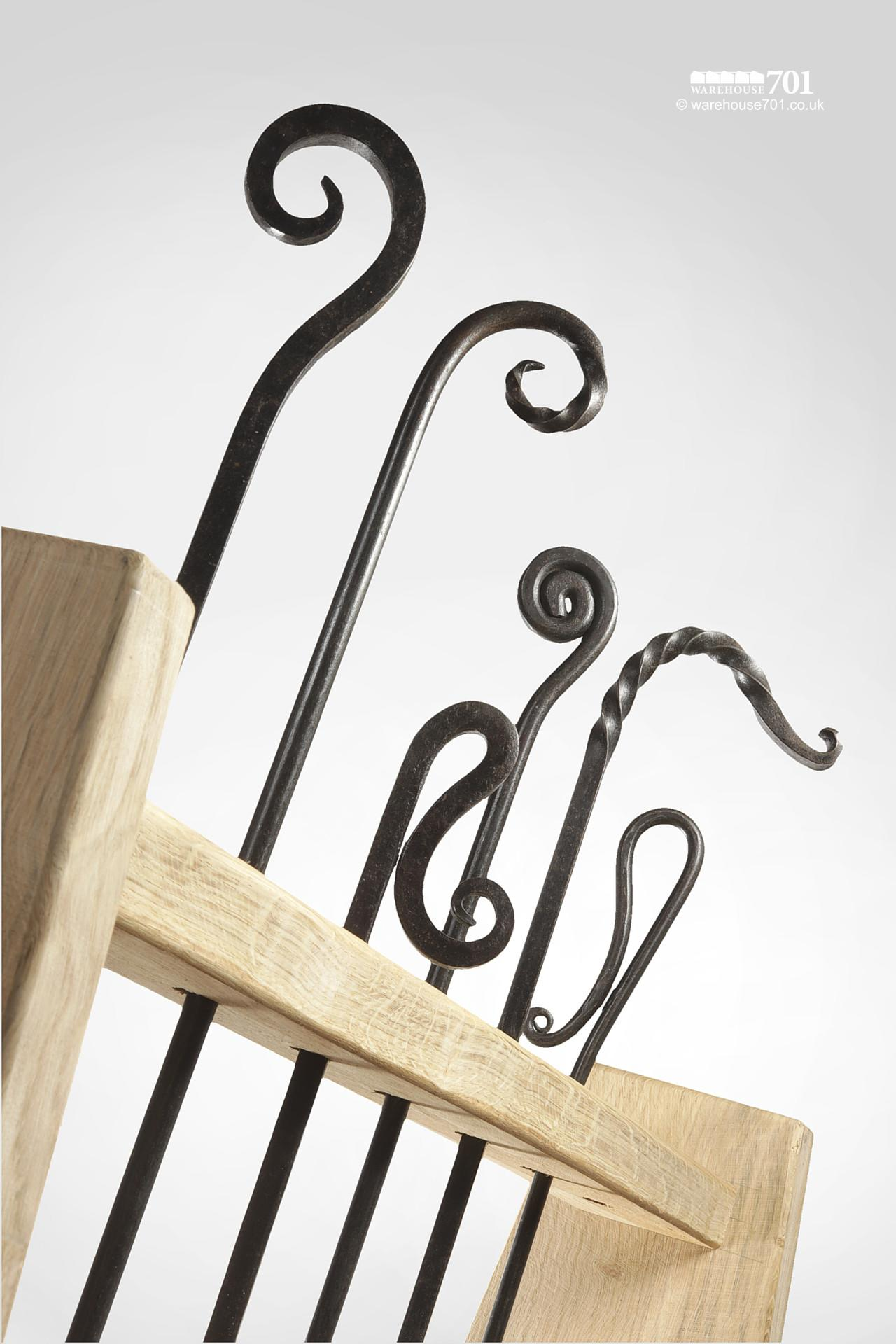 New Wrought Iron Blacksmith Made Decorative Fire Pokers