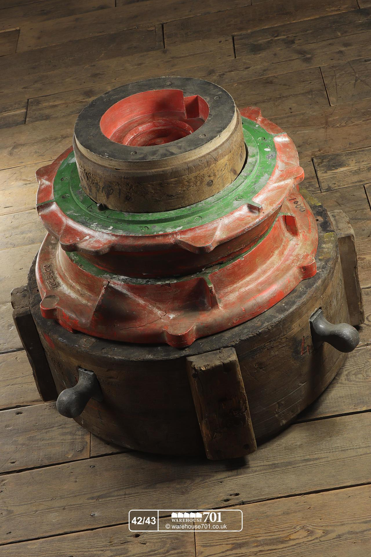 Reclaimed Foundry Industrial Patterns or Moulds (No's 42, 43) for Shop, Retail and Home Display
