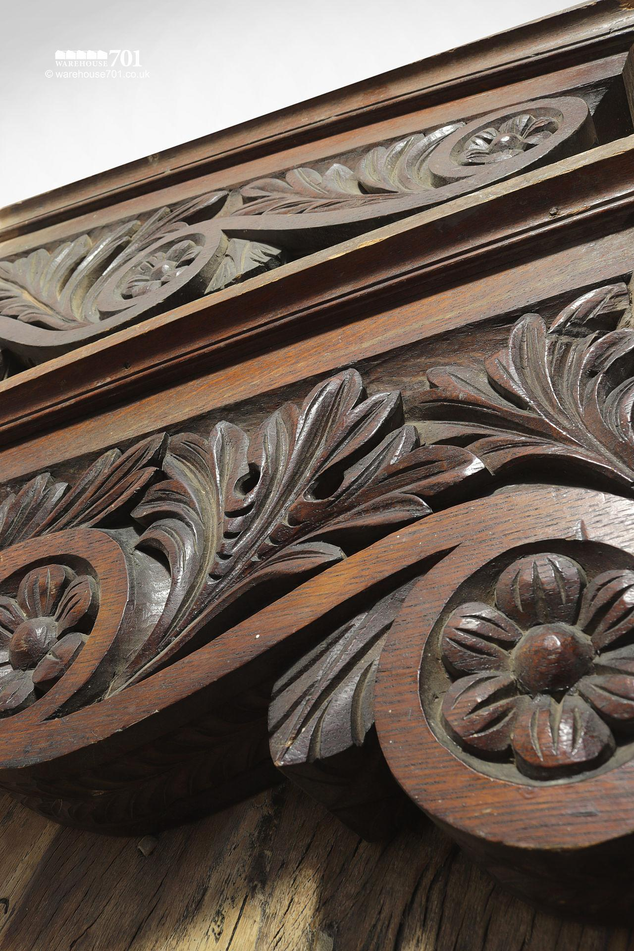 A Pair of Beautiful Very Large Hand Carved Oak Decorative Corbels #2