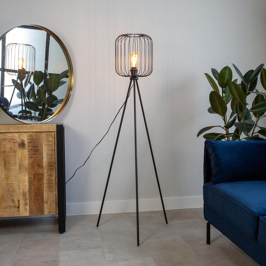 Industrial Floor Lamp Wire Bulb