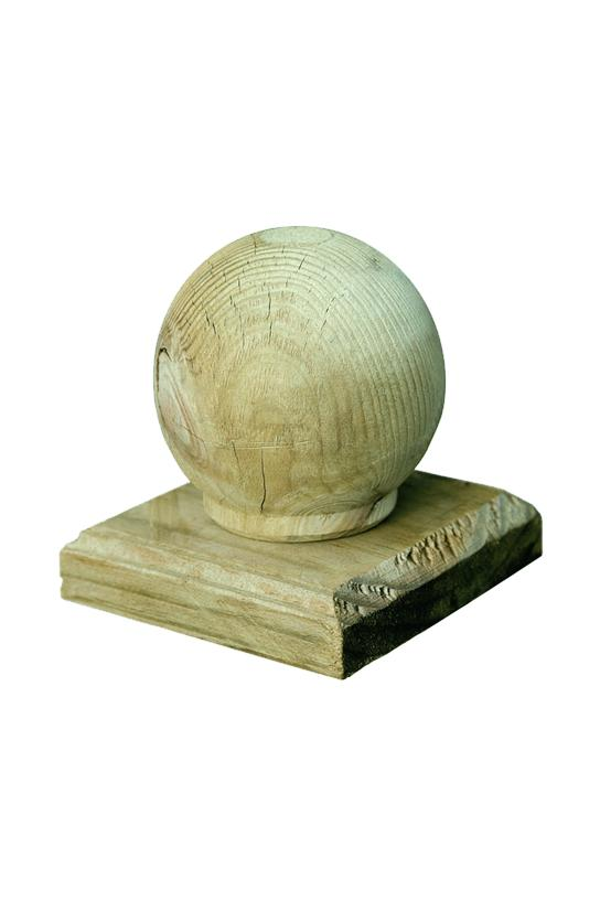 Elite TImber Post Cap with Ball or Sphere Finial