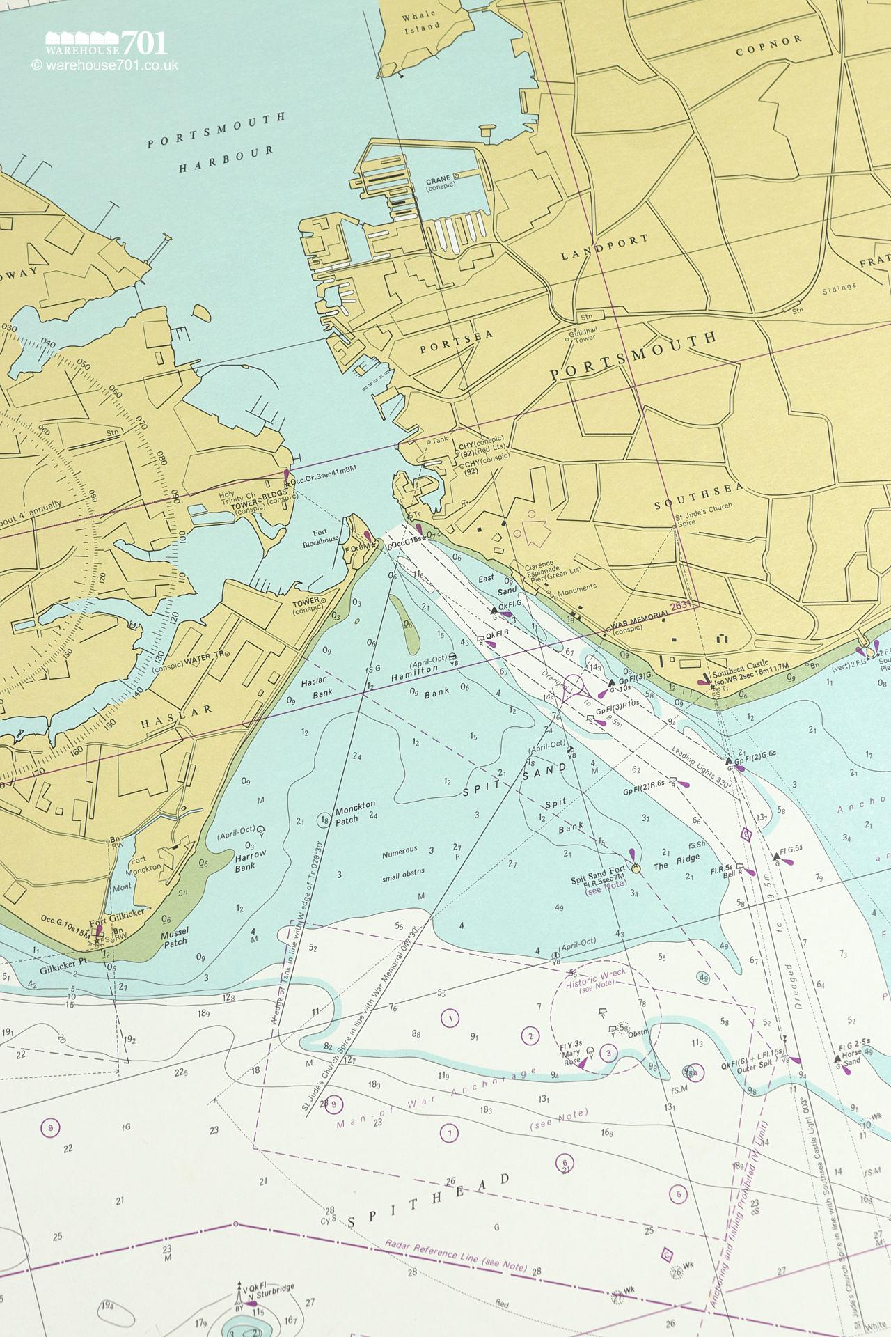 Extensive Collection of Original 1960s Nautical Charts From Around The World #11