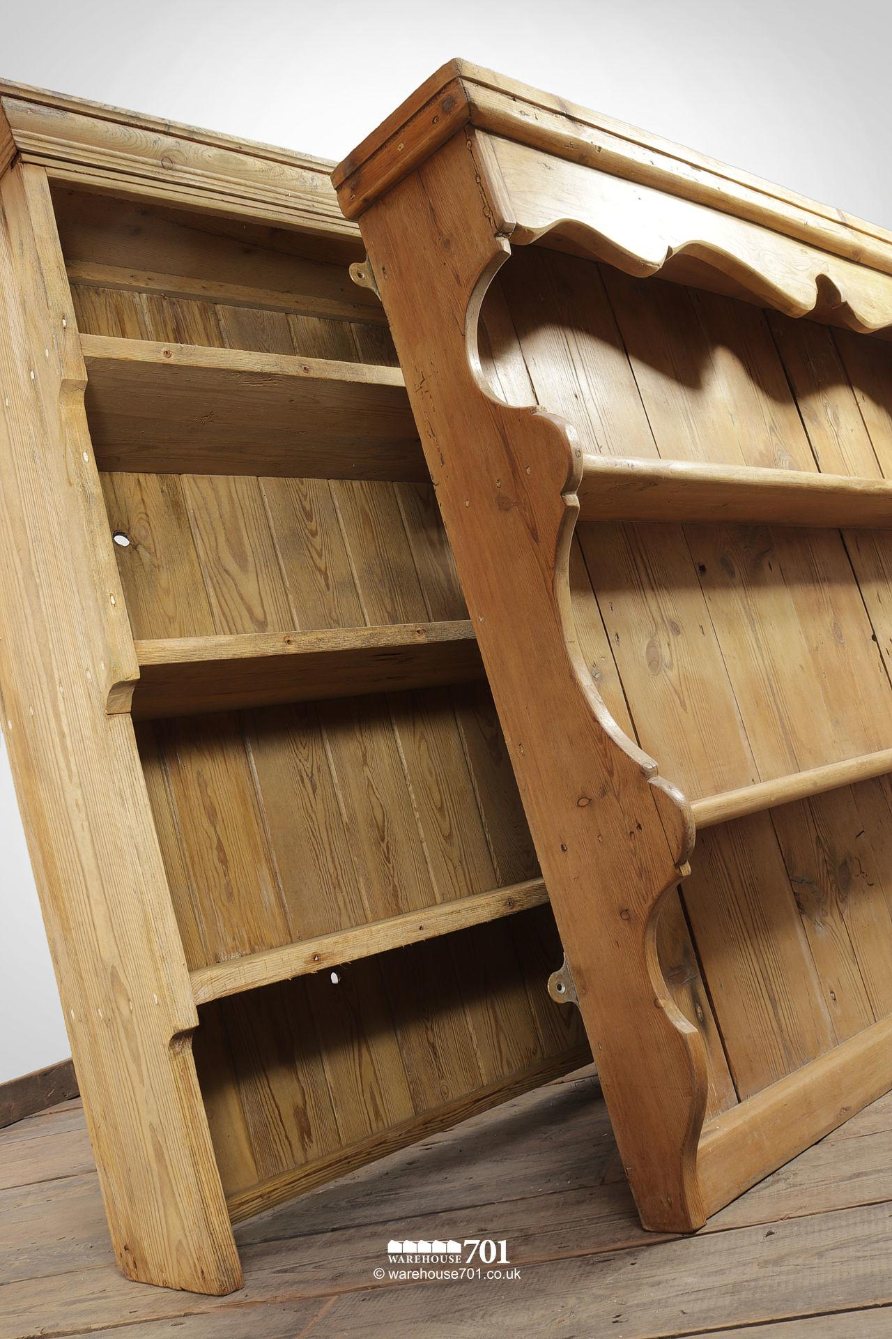 Vintage Honey Pine Welsh Dresser Tops or Shelves #3