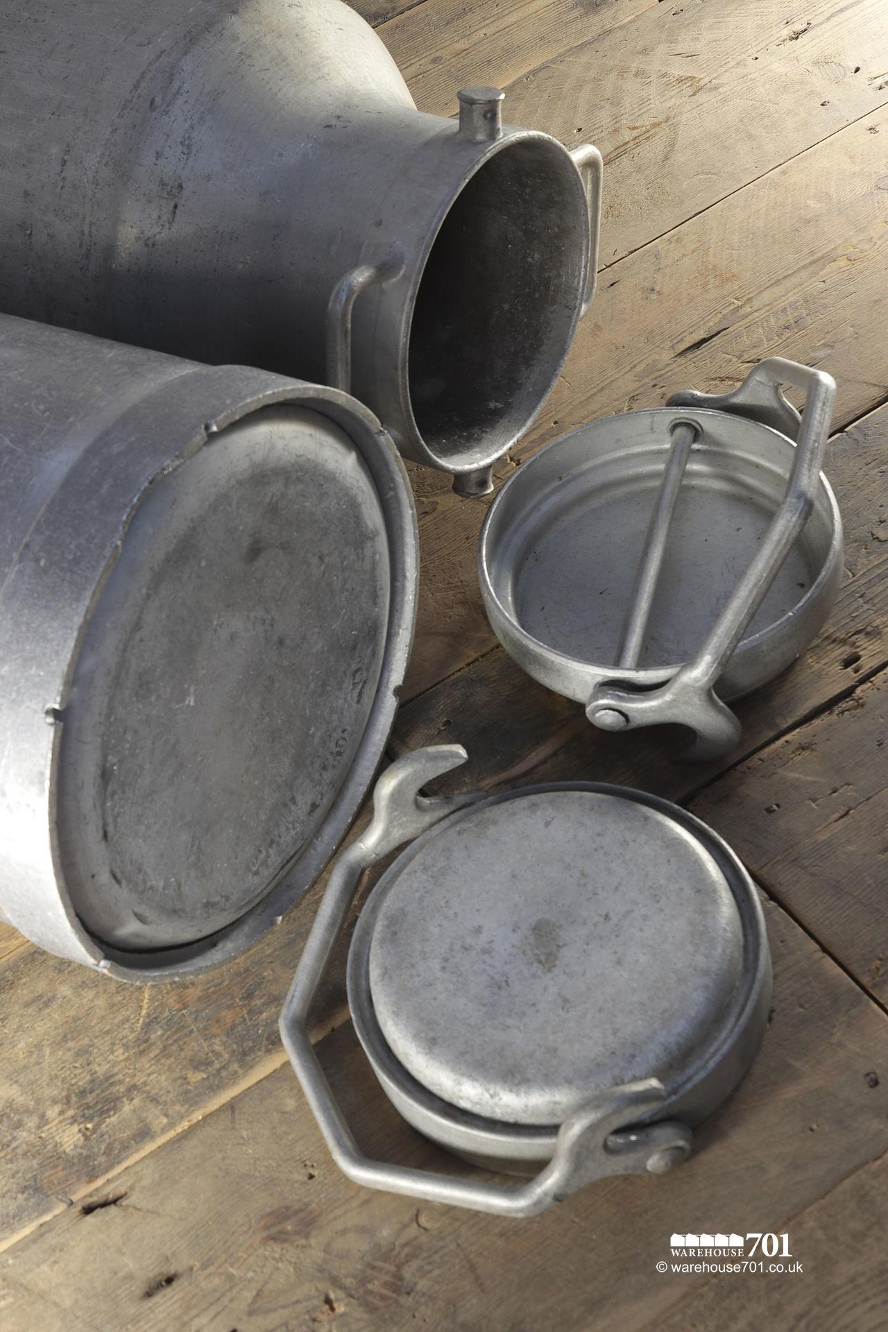Salvaged Alloy Milk or Liquid Churns #3