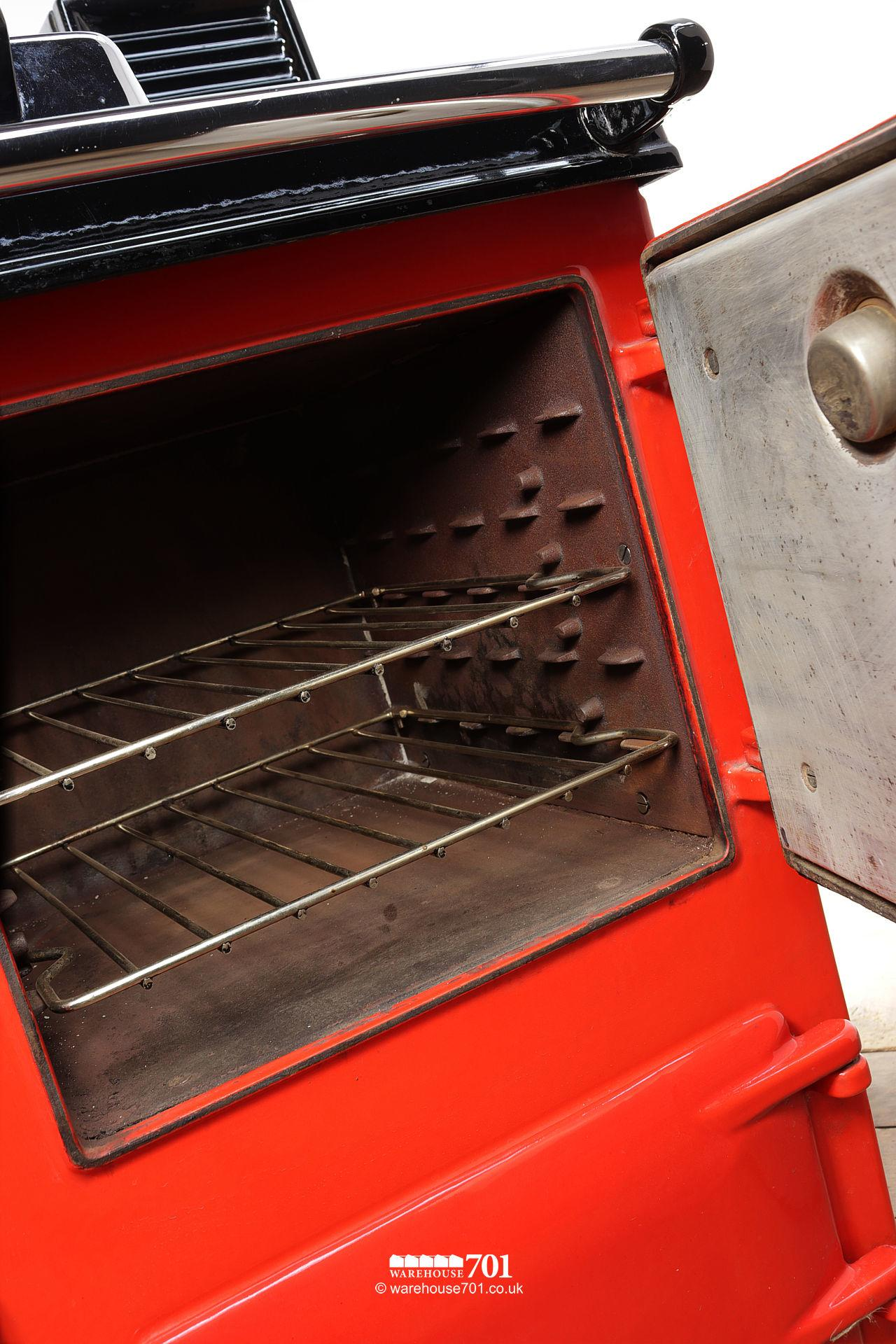 Fine Used Red Rayburn Nouvelle Cooker or Stove #7