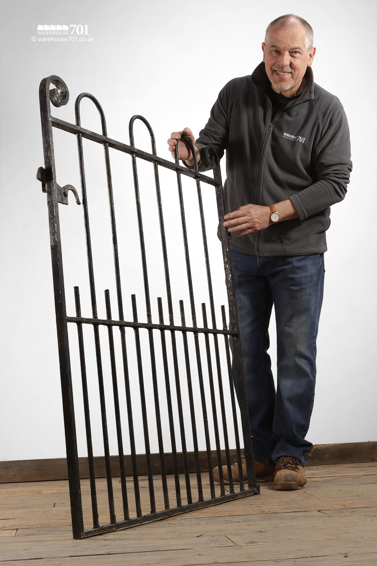 Reclaimed Hoop and Scroll Wrought Iron Pedestrian Gate #4