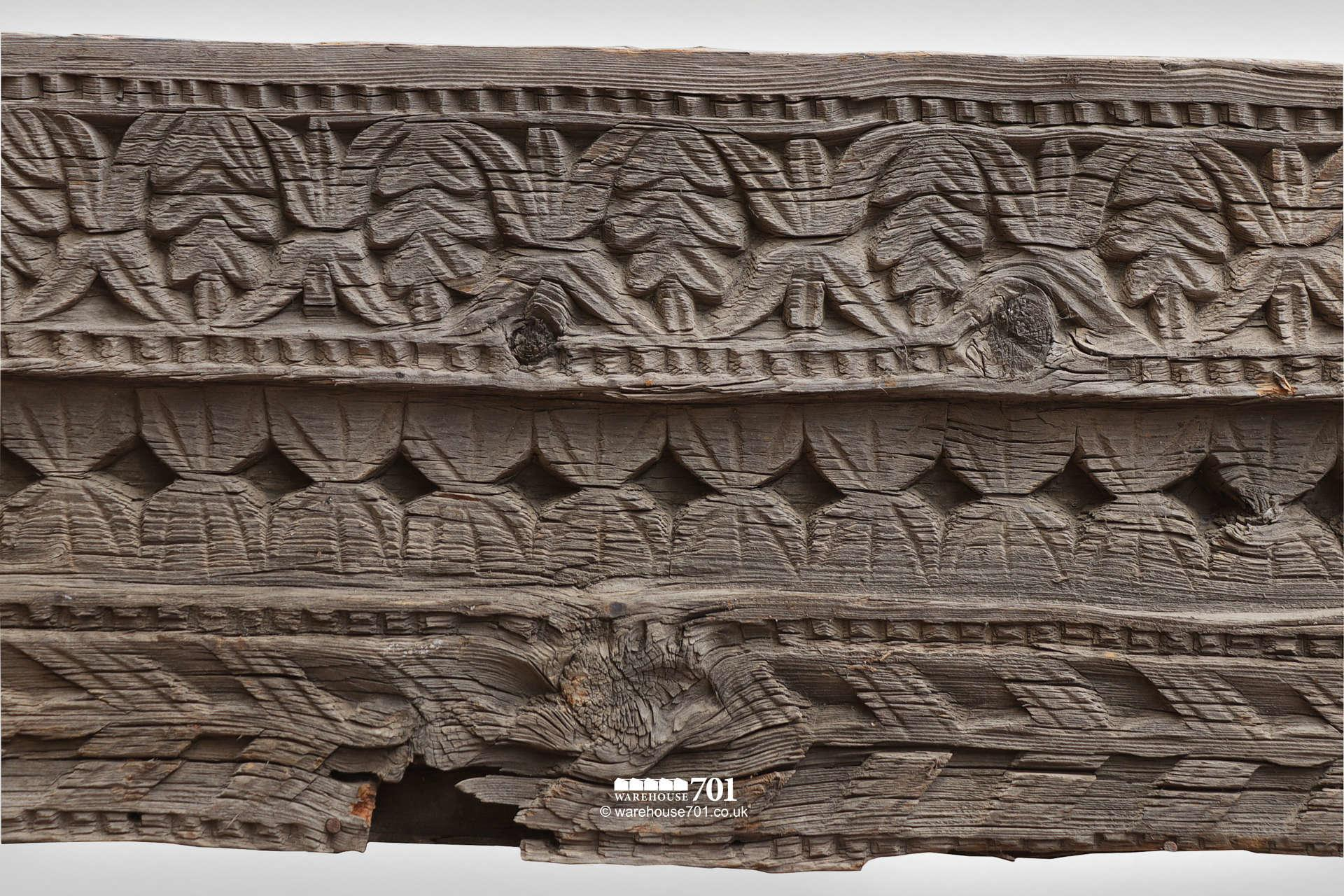 Beautiful Hand Carved Tudor Frieze, Facade or Fascia Board #5