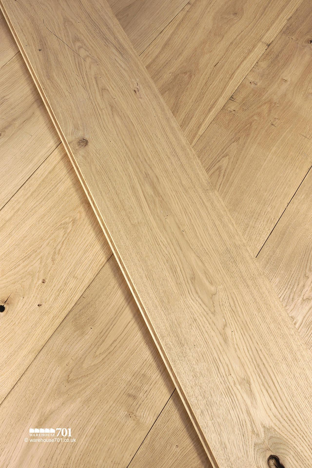 New Natural Oak Solid Wood Tongue and Groove Plank Flooring #2