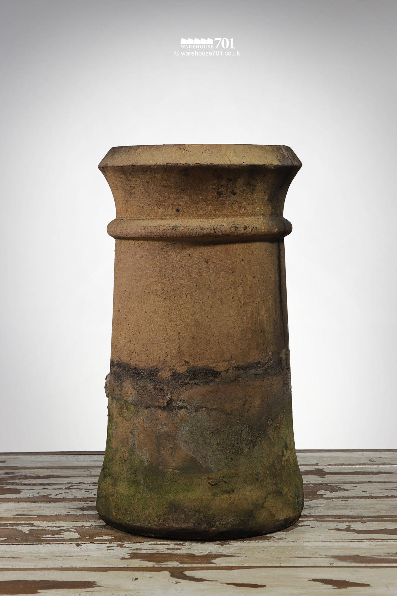 Old Buff Cannon Chimney Pot Planter (holed) #2