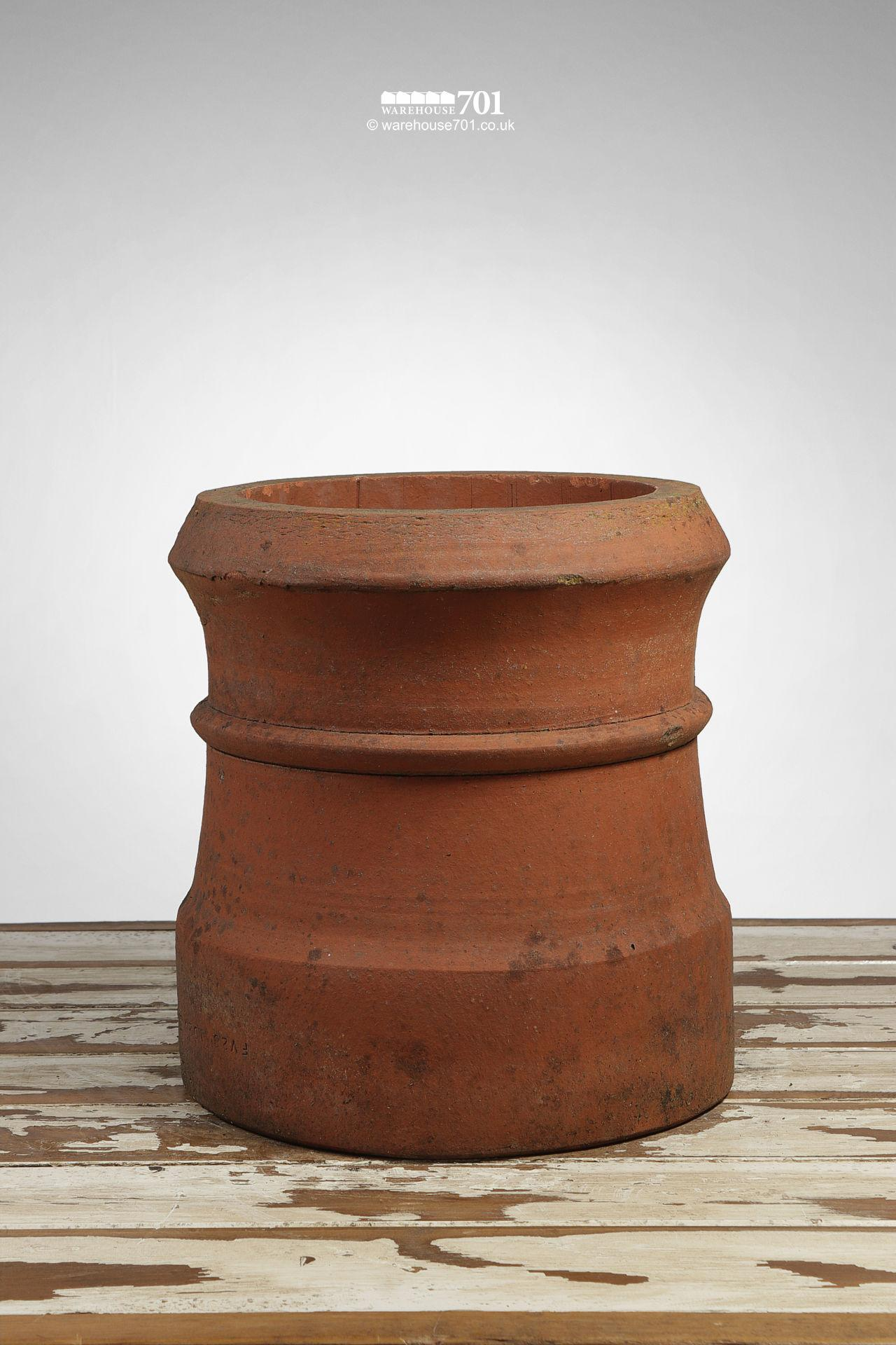 Old Terracotta Short Cannon Shape Chimney Pot #1