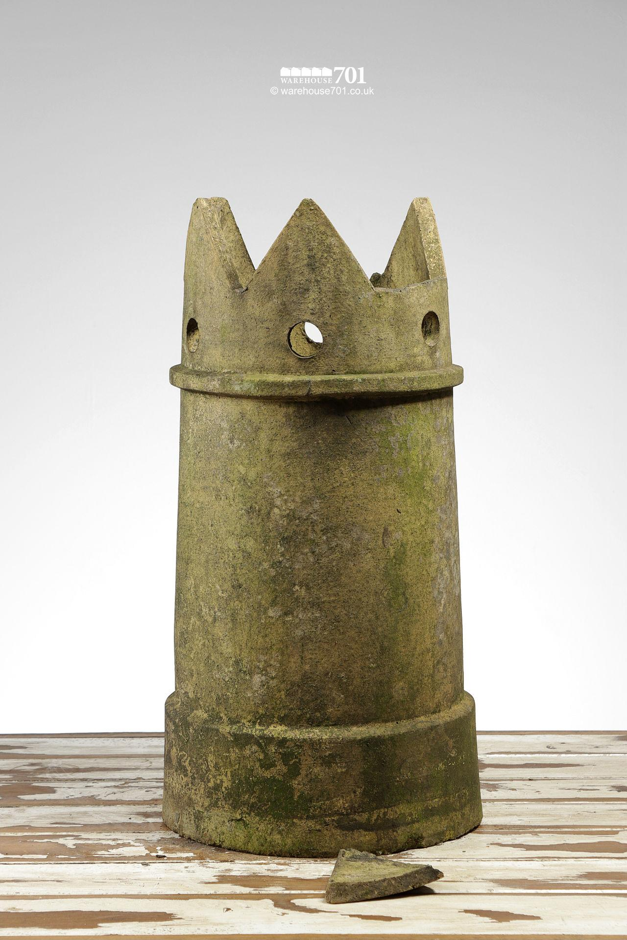 Period Tapered Buff Pierced Crown Chimney Pot