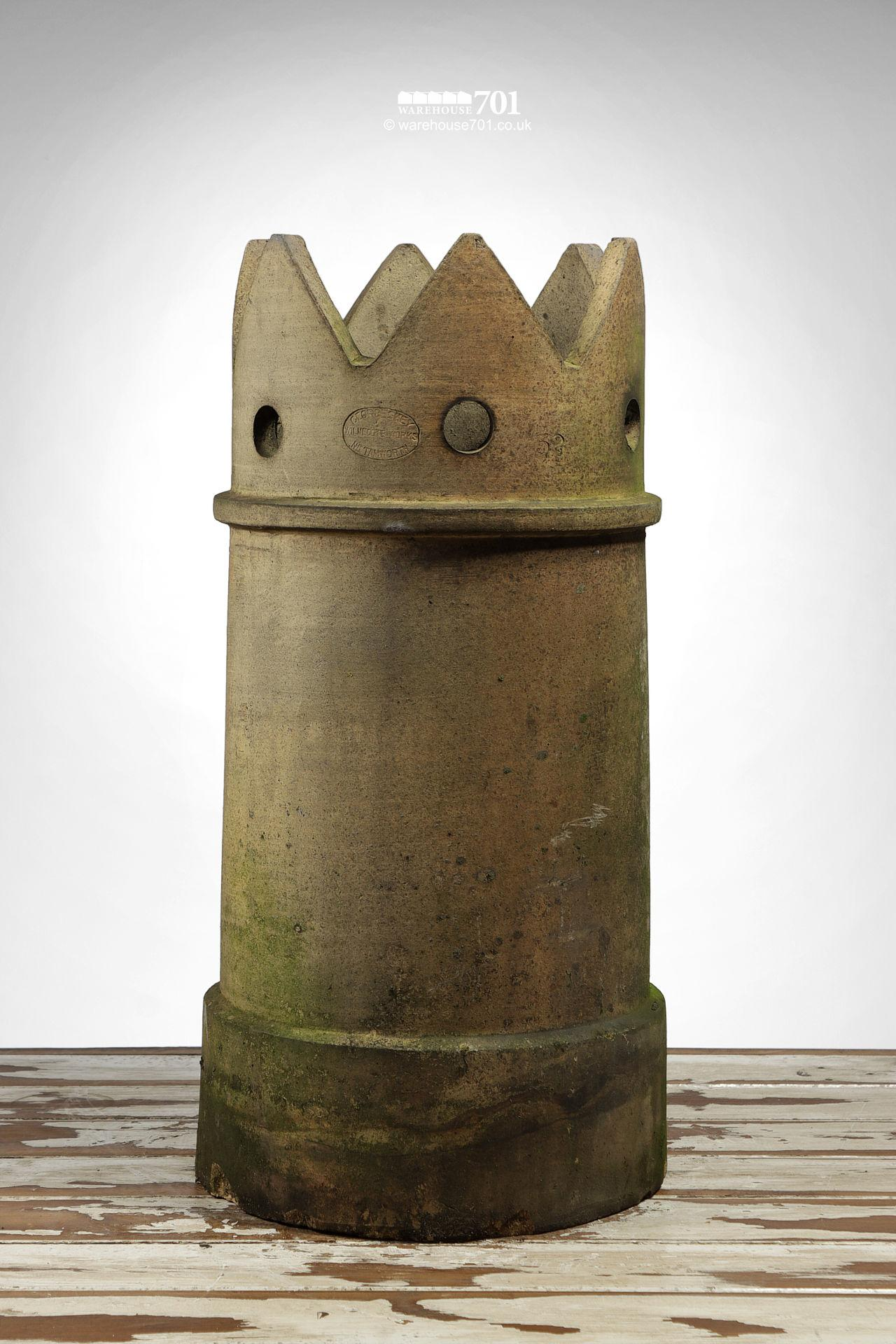 Reclaimed Buff Pierced Crown Chimney Pot #2
