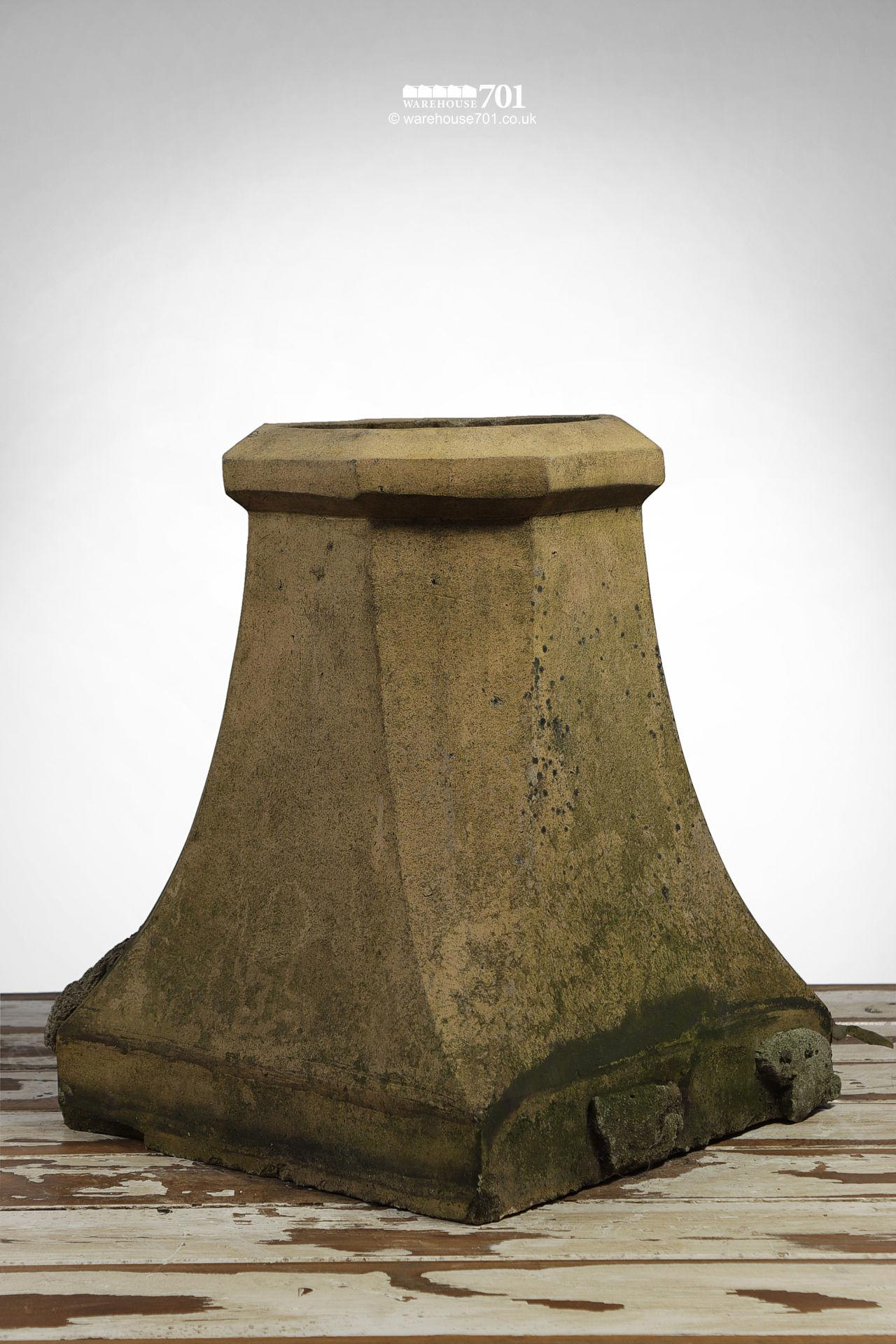 Vintage Halifax Style Buff Clay Chimney pot #2