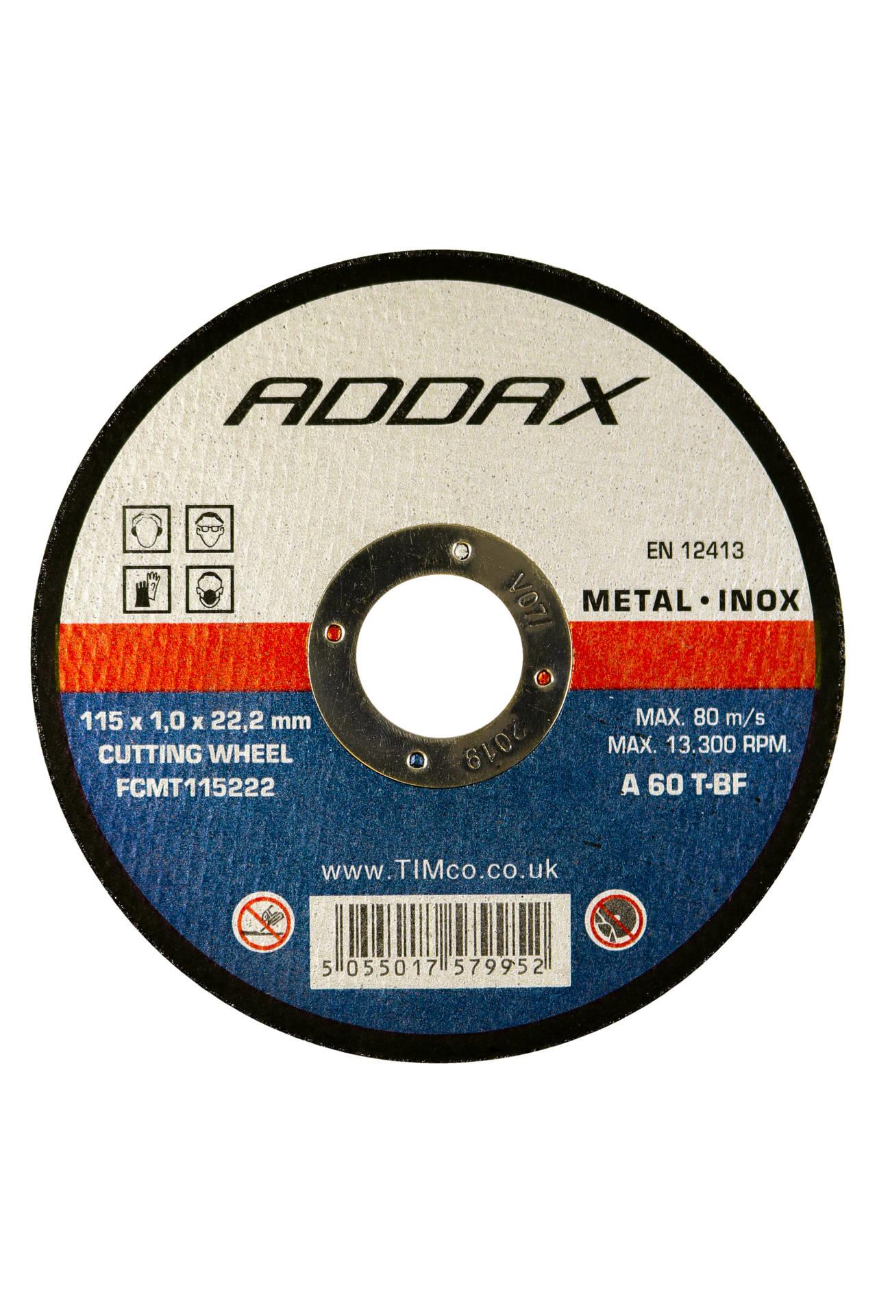 Addax Bonded Abrasive Disc - For Cutting Various Types of Metals