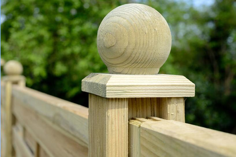 Elite TImber Post Cap with Ball or Sphere Finial #2