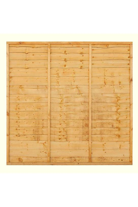 Superior Golden Brown Lap Wood Fence Panel #2
