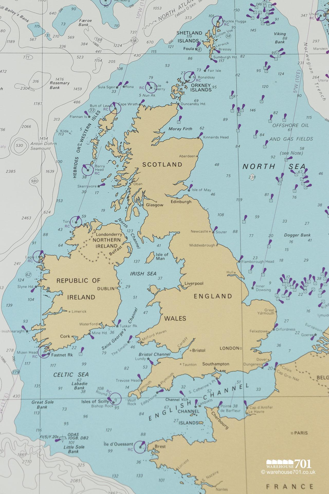Extensive Collection of Original 1960s Nautical Charts From Around The World #12