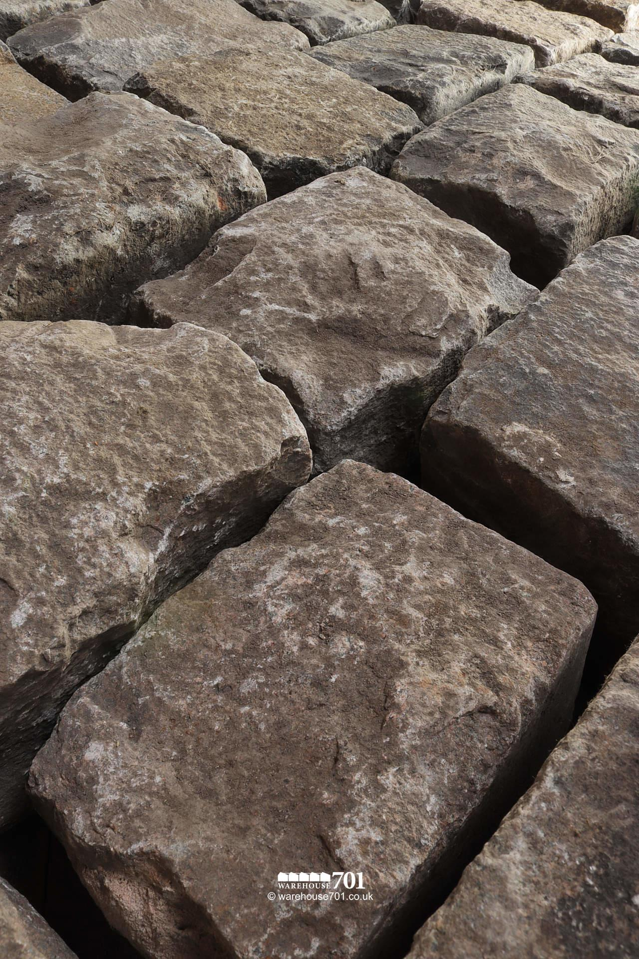 Salvaged Full Size Granite Squared Cobbles or Setts #3