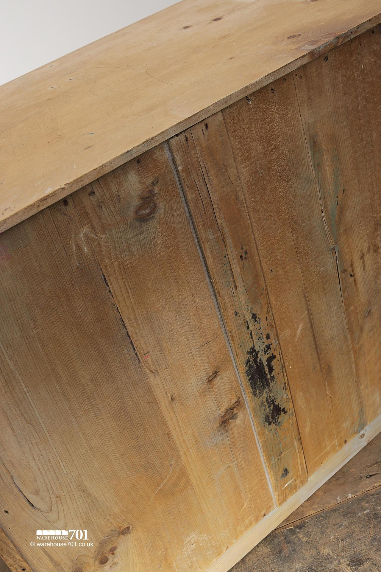 Old Four Drawer Honey Pine Chest of Drawers #7