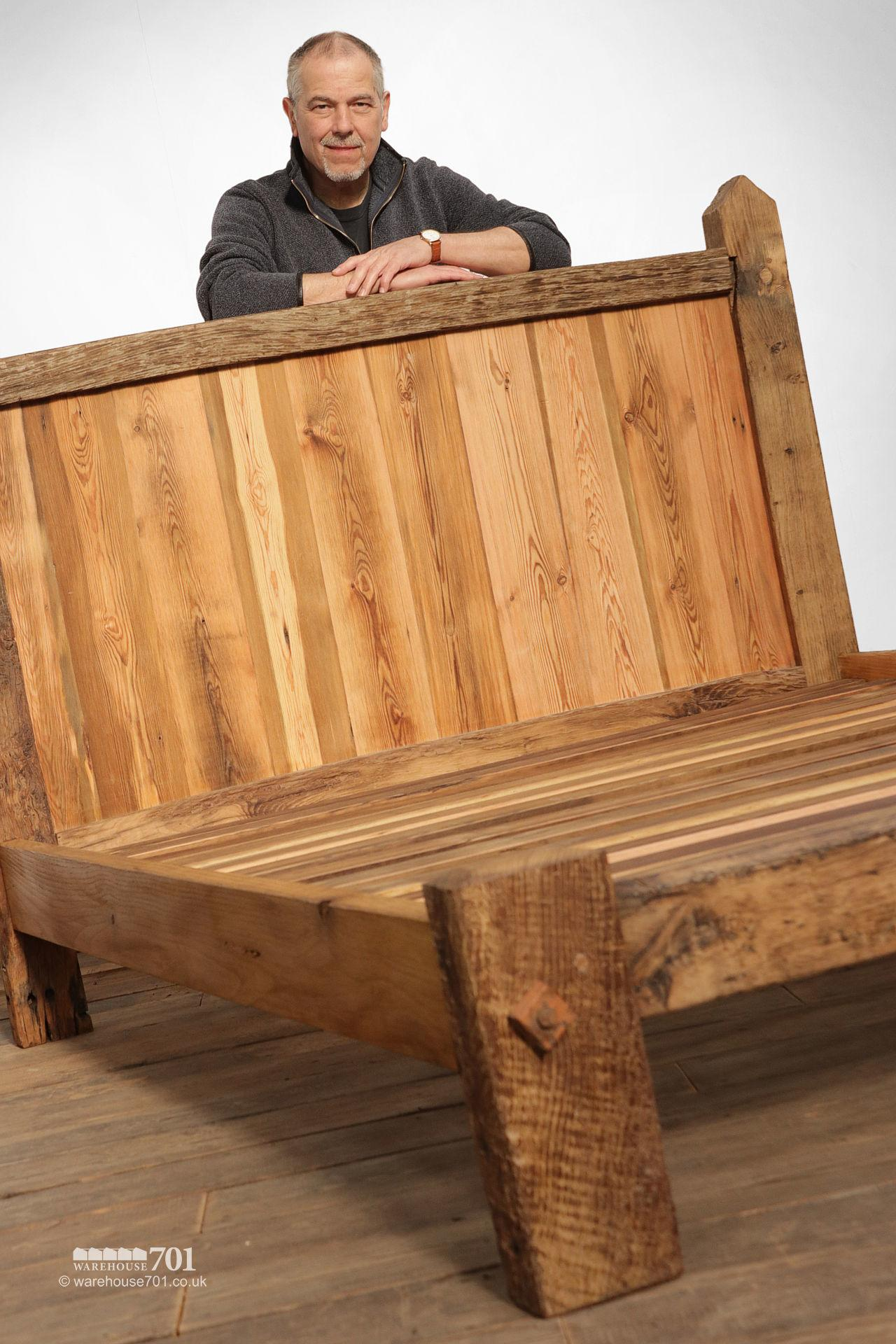 Impressive Hand Built Bed Made From Old Oak Gates #2