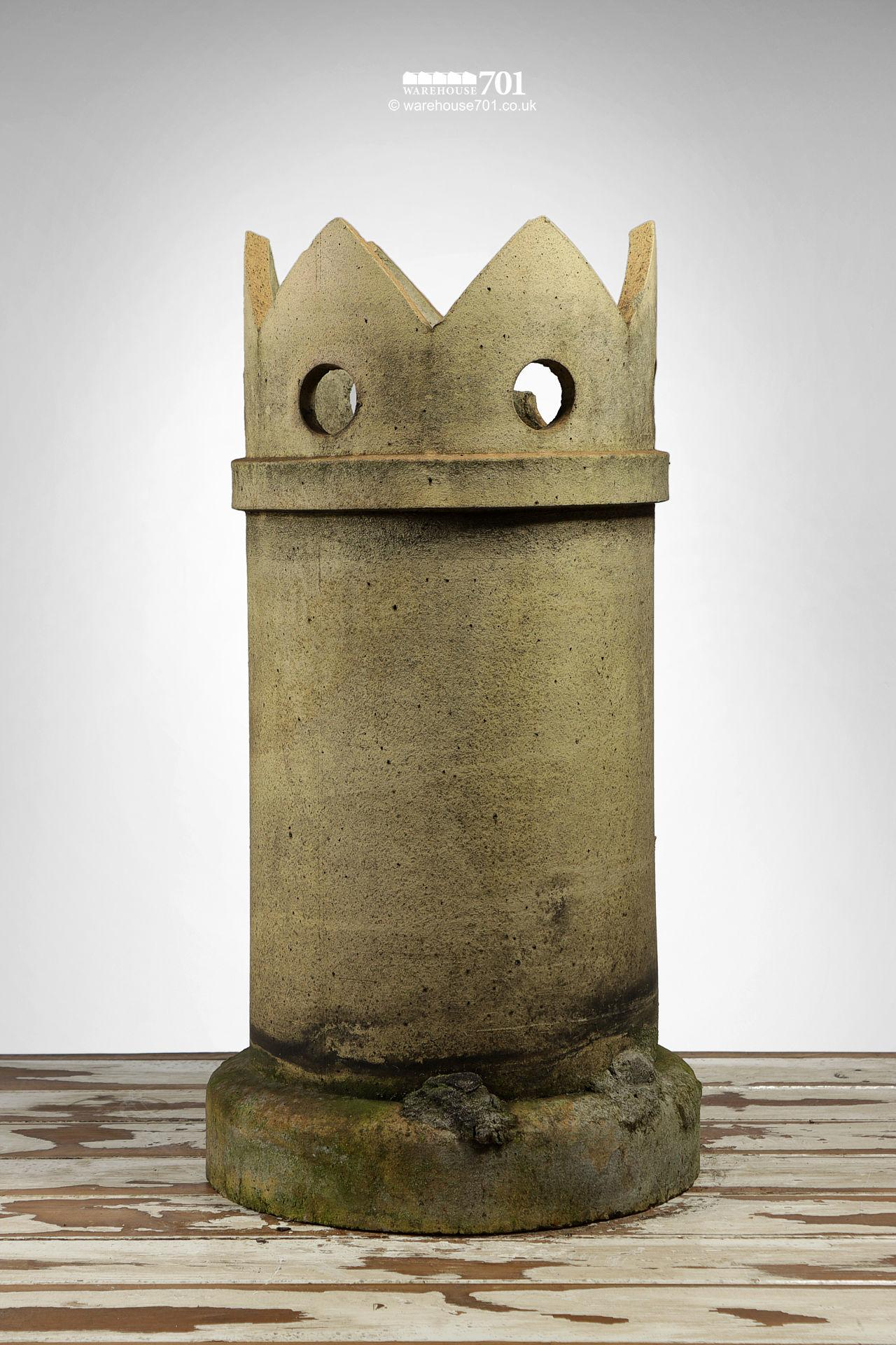 Reclaimed Buff Straight Crown Chimney Pot