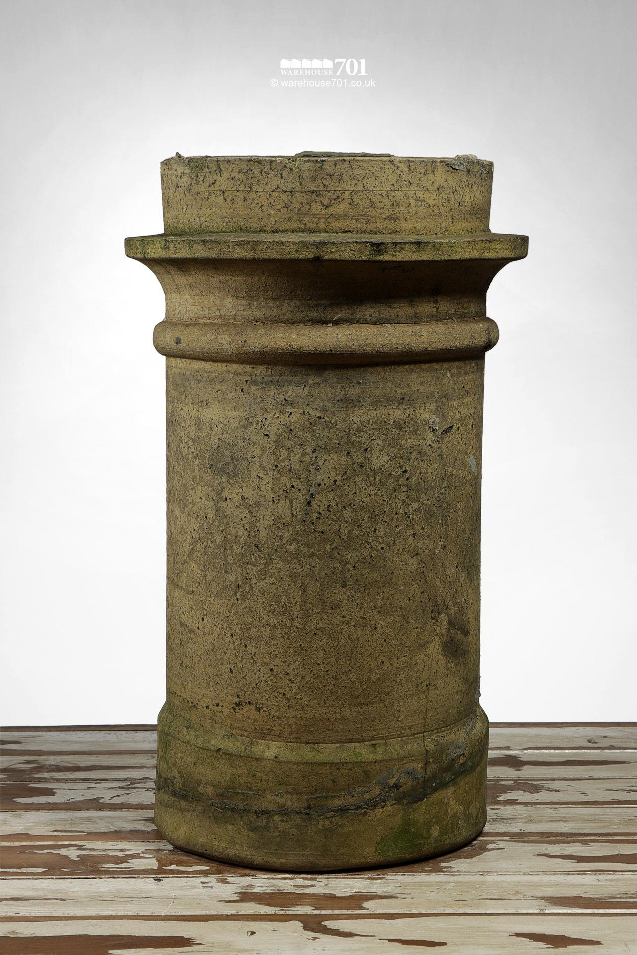 Reclaimed H Doulton Beaded Buff Chimney Pot