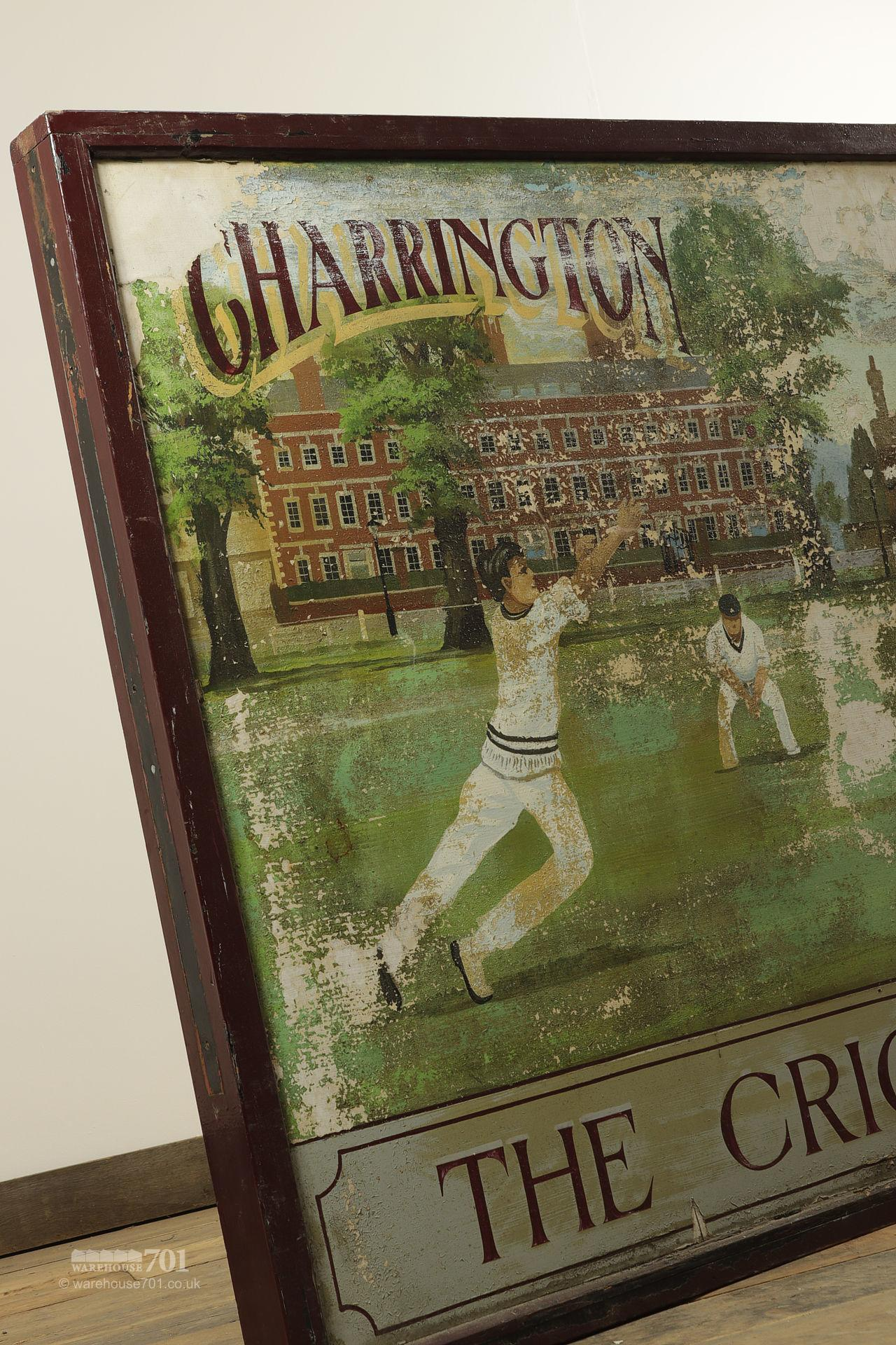 Salvaged Cricketers Double Sided Pub Sign #2