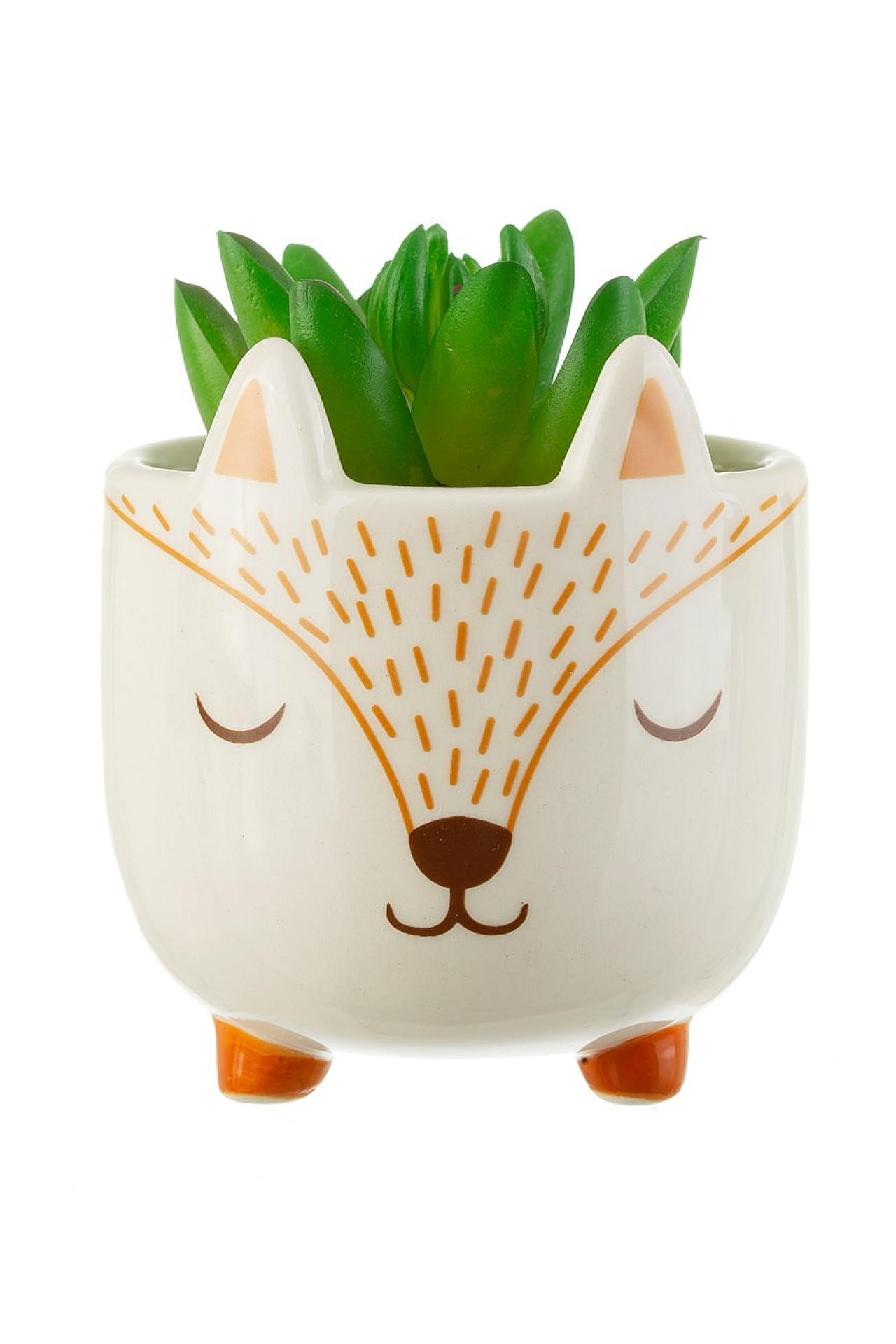New Childrens Mini Woodland Fox Planter for the Nursery and Home #2