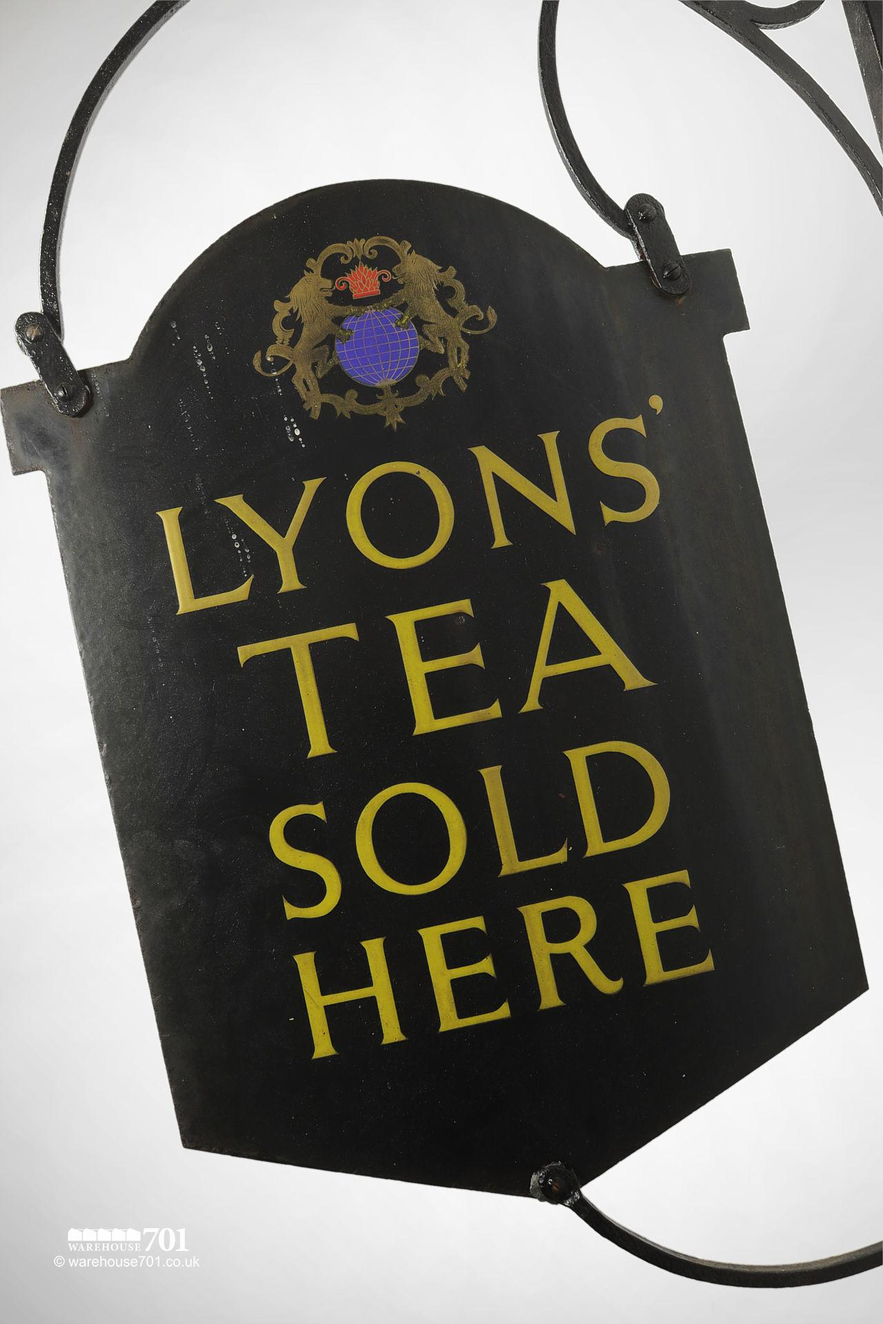 Authentic Double-Sided Lyons' Tea Projecting Hanging Wall Sign #2
