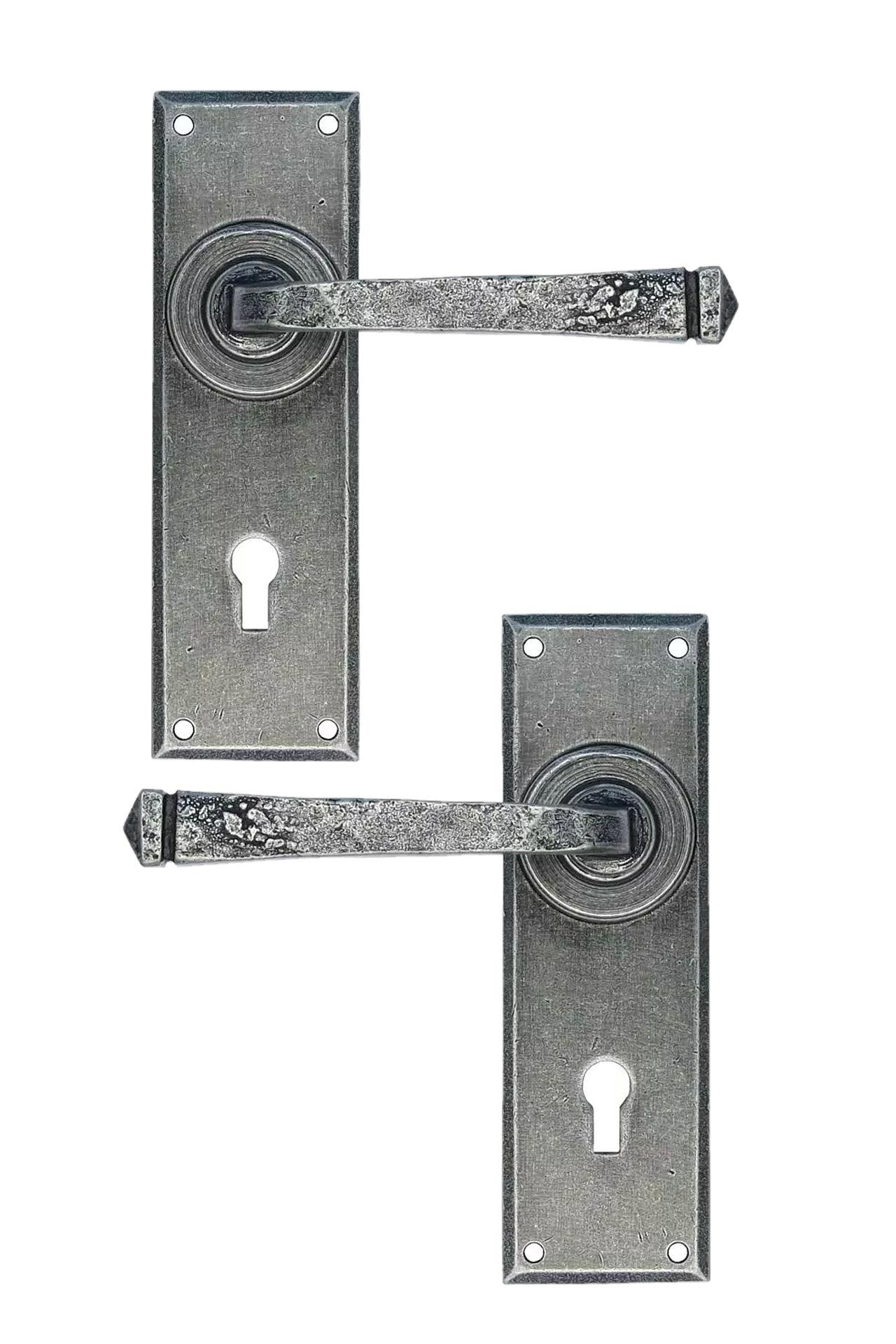NEW From The Anvil Pewter Avon Lever Lock Set